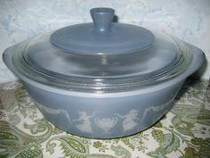Vintage Blue Glassbake Casserole Dish With by DianesStuffForYou, $17.00