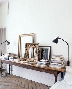 Marcos como elemento decorativo una oficina