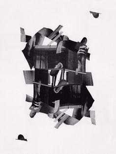 untitled cut paper collage ©Tres Roemer, 2013