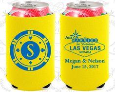Las Vegas, Neoprene Wedding, Just Married, Monogram Poker Chip, Las Vegas Sign, Neoprene Wedding Favors (59)