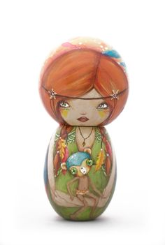 Axel Honey - Artwork - Kokeshi: Friends and Foes - Nucleus | Art Gallery and Store