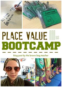 Place Value Bootcamp is a high-energy and challenging way to 'hook' your young mathematicians. This is my third year doing Bootcamp and every years it looks different! While doing calendar, I told my Second Grade Math, First Grade Classroom, Math Classroom, Grade 2, Future Classroom, Classroom Organization, Teaching Place Values, Teaching Math, Teaching Ideas
