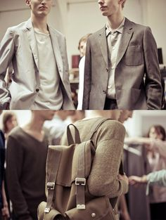 MARGARET HOWELL Menswear S/S 13   Backstage at LFW