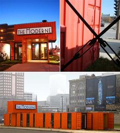 Moderne Sales Center: Urban Container Office