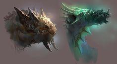 dragon heads by PkLklMike.deviantart.com on @deviantART