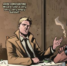 """hellstromknight: """" why-i-love-comics: """" Grayson Annual - """"Who Is Agent """"written by Jackson Lanzing & Colllin Kely art by Roge Antonio & Jeromy Cox """" """" And a lot younger version of. Matt Ryan Constantine, Constantine Hellblazer, Comic Movies, Comic Books, Hellblazer Comic, Agent 37, Justice League Dark, Dc Legends Of Tomorrow, Bullshit"""