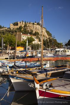 Sailboats in the harbor of Cassis, Bouches-du-Rhone, Provence France. © Brian Jannsen Photography