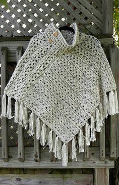 Diy Crafts - crochet-PDF Crochet Pattern for September Splendor Poncho poncho crochet Crochet Scarves, Crochet Shawl, Crochet Clothes, Crochet Designs, Crochet Patterns, Diy Crafts Crochet, Crochet Woman, Knitted Poncho, Super Saver