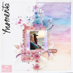 Vicki Boutin Field Notes Sunset Layout by ArtfulLeigh at Studio Calico Ideas Scrapbook, Paper Bag Scrapbook, Scrapbook Cover, Scrapbook Journal, Scrapbook Designs, Scrapbook Sketches, Scrapbook Page Layouts, Scrapbook Supplies, Scrapbook Cards