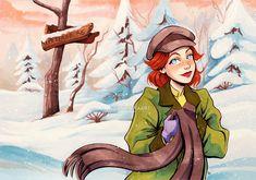 Disney Anastasia, Anastasia Musical, Anastasia Broadway, Disney Princess Art, Disney Fan Art, Cartoon Drawings, Cute Drawings, Journey To The Past, Disney Challenge