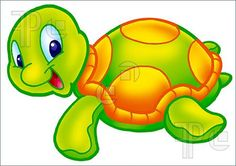 A digitally illustrated cute turtle. Cartoon Images, Cartoon Drawings, Cute Cartoon, Animal Drawings, Rock Crafts, Diy And Crafts, Cartoon Turtle, Dora, Anne Geddes