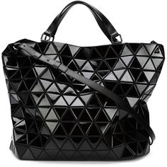Issey Miyake Baobao Prism Shopping Bag ($1,970) ❤ liked on Polyvore featuring bags, handbags, tote bags, black, shopper tote handbags, shopper handbags, black tote bag, shopping bag and shopper purses
