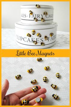 Set of 12 cute busy bee fridge memo decor magnets #ad #Etsy #bee #bees