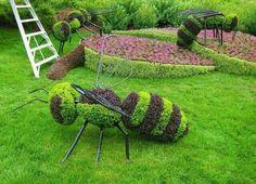 Organic Gardening Tips For Beginners Topiary Garden, Topiaries, Organic Gardening Tips, Gardening Hacks, Dream Garden, Yard Art, Botanical Gardens, Beautiful Gardens, Flower Art