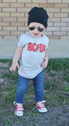 CARA LOREN: Aviator Lovin. Kids clothes. Cute. Boys. Band tees. Kids in band tees.  Rocker
