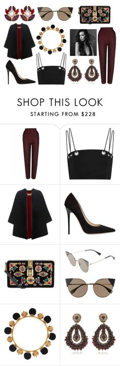 """""""OUR DAY WILL COME"""" by laura-melissa-cortes on Polyvore featuring moda, The 2nd Skin Co., Thierry Mugler, Burberry, Jimmy Choo, Dolce&Gabbana y Fendi"""