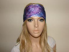 purple yoga headband  workout headband  woman by OtiliaBoutique
