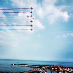 The red arrows annual visit to Lyme Regis, Dorset