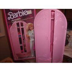 1980's BARBIE LIVING PRETTY ARMOIRE FURNITURE Pin Up Vintage, Vintage Barbie, Vintage Toys, All American Doll, 1980s Barbie, Barbie Playsets, Nostalgia, Barbie Dream House, Barbie Furniture