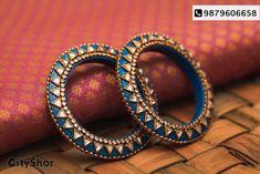Pristine range of exclusive bangles at IvyAura Gallery. Silk Thread Bangles Design, Silk Thread Necklace, Silk Bangles, Bridal Bangles, Thread Jewellery, Silver Bracelets, Bangle Bracelets, Jewellery Diy, India Jewelry