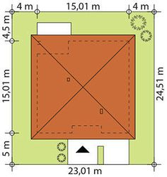 Sytuacja TP Irysek 2 CE Architecture, Case, Bungalow, Design, Model, Ideas, Homes, Build House, Arquitetura