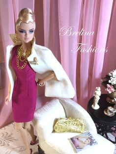 """Rose Petal"" Fashion Royalty Dolls, Fashion Dolls, Barbie Dolls, Pink Barbie, Barbie Friends, Doll Face, Rose Petals, Doll Clothes, My Design"