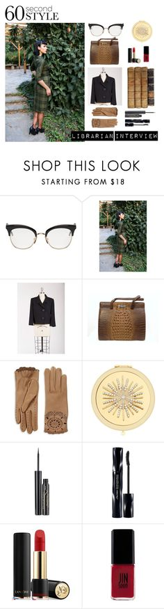 """""""Librarian Interview"""" by glenda-garbutt ❤ liked on Polyvore featuring Thom Browne, Burberry, Monet, Elizabeth Arden, Shiseido, Lancôme, JINsoon, jobinterview and 60secondstyle"""