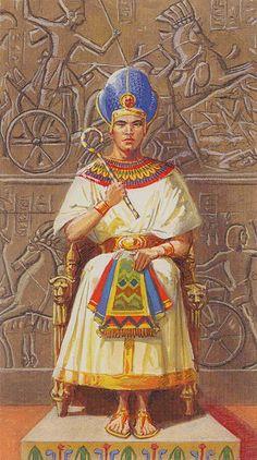 IV - L'empereur - Ramsès : Tarot de l'éternité par Severino Baraldi