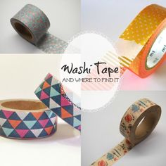 Cool Finds: Our Favourite #WashiTape And Where To Find It!