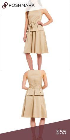 412d8adec5b4 Antonio Melani Gwen Khaki Peplum Dress Size 10 Like New Excellent Flawless  Condition. Worn twice
