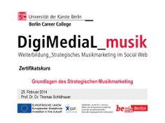Aus dem Zertifikatskurs: Am 25.02 ging es mit Prof. Dr. Dr. THOMAS SCHILDHAUER um die Grundlagen des strategischen Musikmarketing. http://www.digimedial.de/zertifikatskurs