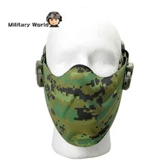 Material: Nylon Size: One Size Item Type: Tactical Half Face Mask Use For…