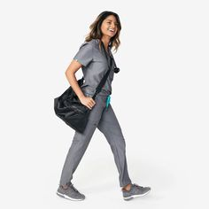 Women's Accessories colllection styles) - FIGS makes awesome medical apparel. Why wear scrubs when you can wear FIGS? Nylon Tote Bags, Shoulder Pads, Scrubs, Women's Accessories, Harem Pants, Normcore, Unisex, Cotton, How To Wear