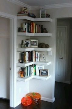Corner shelves, only bigger, for the craft area