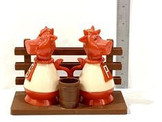 Vintage Kitchen Cow Salt Pepper Set Cows and Fence JSNY | Etsy White Cow, Red And White, Kitchen Prices, Salt And Pepper Set, Etsy Shipping, Cows, Vintage Kitchen, Vintage Christmas, Fence