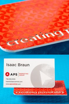 """This professional business card is a 48pt (3 layered) with Spot UV gloss (pattern) and custom die cut (""""Creating Possibility""""). This colorful business card screams professionalism and will definitely leave a lasting impression on your future clients. Click here to get your FREE sample kit and start your creative business card design TODAY! #branding #elegantbusinesscards #businesscardideas #classybusinesscards Thick Business Cards, Makeup Business Cards, Plastic Business Cards, Gold Business Card, Elegant Business Cards, Professional Business Cards, Business Card Design, Creative Business, Gift Card Printing"""