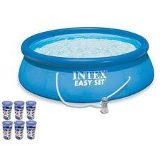 "INTEX 15' x 48"" Easy Set Swimming Pool Kit w/ 100 ($251.00)"