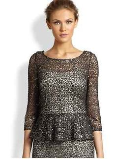 kay-Unger-NWT-Sequined-Lace-Peplum-Top-size-18-smoke-grey-350-at-Saks