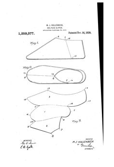 Patent US1359377 - One-piece slipper - Google Patents