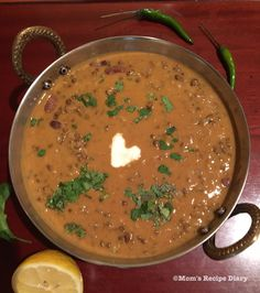Dal makhani is one of the most popular Indian dishes. Lentils and beans are cooked in a buttery gravy. Dal means lentils and Makhani means buttery. Creaminess in this dish is achieved by slow cooking the lentils and beans in a rich sauce made with … Lentil Recipes, Vegetarian Recipes, Healthy Recipes, Lamb Recipes, Vegan Vegetarian, Sin Gluten, Kumquat Confit, Lentils Instant Pot, Sambhar Recipe
