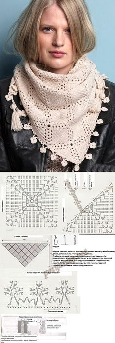 Crochet Shawl - easy for any beginner! Unit scarf crochet pattern