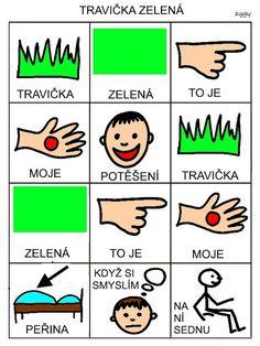 Pro Šíšu: Travicka zelena Baby Time, Book Activities, Playing Cards, Language, School, Books, Czech Republic, Montessori, Autism