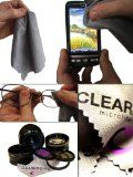 (6 Pack) Clearbrights Lens & Screen Microfiber Cleaning Cloths - Premium Grade-Highest Quality-Lint Free. For Optical Glasses-Camera Lenses-Tablet-iPad-iPhone-Cell Phone-Touch Screen-Laptop-Computer-Kindle-TV. Best Cleaner for Delicate Surfaces &