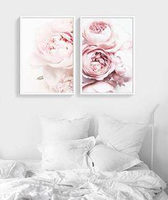 Peony Print Flower Print Set For Nursery Floral Print
