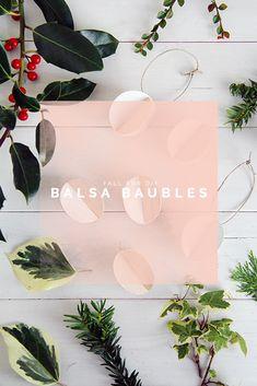 DIY Balsa Wood Baubles