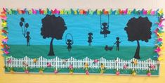 Spring Silhouettes Bulletin Board Idea