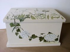 Painted Furniture Nature Box Botanical Garden by BetweenTheWeeds.etsy.com