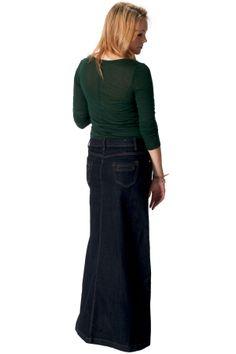 Flared Stonewash Denim Skirt   Denim Skirts   Denim Skirts styled ...