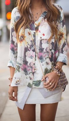 Whether it's a maxi or a blouse, you can always add a feminine touch to your outfit with floral prints!