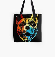 Cool Frenchie dog animal print tote bag. Watercolor art work for french bulldog lovers. Animal Print Tote Bags, Beagle Art, Dog Artwork, Best Dad Gifts, Cat Dad, Cute Pugs, Cat Colors, Baby Owls, Watercolor Art